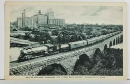 Empire Builder Crossing Stone Arch Bridge Minneapolis to Bowler Wis Post... - $9.95