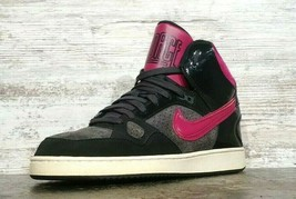 Womens Nike Son Of Force Mid Top Sneakers Shoes SZ 8 39 Used Purple Blac... - $29.69