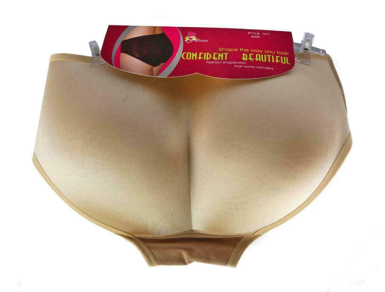 Women's Fullness Butt Lifter Enhancer Booster Shaper Panty Beige #7011