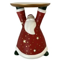 "Partylite Retired Holiday Cheer Santa Claus 4"" Pillar Candle Holder P963... - $15.00"