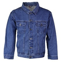 Star Jean Men's Classic Premium Button Up Cotton Denim Jean Jacket Blue (L)