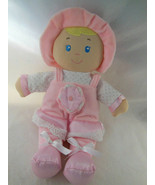 Kids Preferred First Soft Plush Doll Rattle Pink Hat & Dress Crinkly Flo... - $6.92