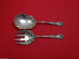 Cleone by International Sterling Silver Salad Serving Set 2pc Massive 9.6 Oz. - $768.55