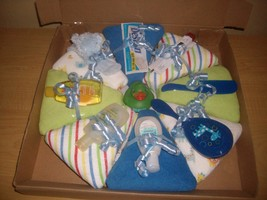 Baby Boy Baby Shower Diaper Pizza Cake - $34.00