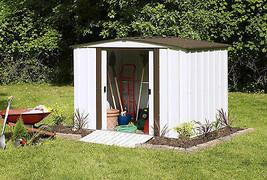 Outdoor Storage Shed Steel 8 ft X 6 ft Yard Tools Garden Lawn Mower Gara... - $407.35