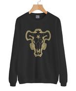 Black Bull the Magic Knight Squad Black Clover Sweater Sweatshirt BLACK - $30.00