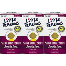 Little Remedies Saline Spray and Drops | Safe for Newborns | 0.5 Fl. Oz  Pack of