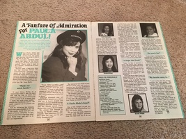 Paula Abdul teen magazine pinup clipping a fanfare of admiration for Paula