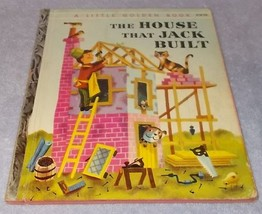 Vintage Little Golden Book The House That Jack Built #218 A printing - $16.00
