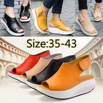 SHAKE 35-43 Summer New Women Shape Ups Sandles Wedges Shoes White Ladies Sexy Le
