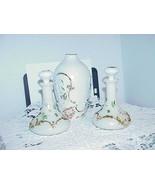 "Vintage Bristol Milk White Glass Barber Bottles & Stoppers 6"" Vase Victo... - $24.74"