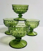 Indiana Colony Glass Avocado Green Whitehall Champagne Tall Sherbet ~ Se... - $12.86