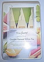 Tea Fortè Garden Harvest White Tea BIO Box 6 Filters Pyramid Organic Teas New - $24.99