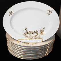 "Oval Johann Haviland Dinner Platters Twilight Rose Bavaria Germany 13"" X 9 - $9.90"