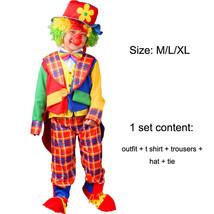 TPDT* ZA 004 Halloween Costumes Kids Children Funny Clown Costume Naught... - £33.99 GBP
