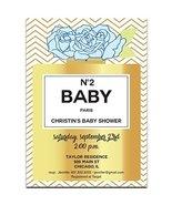 Gold Perfume Bottle N2 Baby Shower Invitations - $19.80