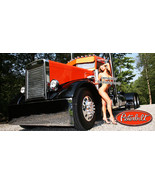 Peterbilt 379, 359, Semi Truck garage wall man cave Vinyl Banner - Semi ... - $34.64