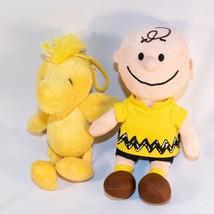 "Peanuts Charlie Brown Bean Plush 2015 8"" Woodstock bird 7"" 2009 - $19.80"