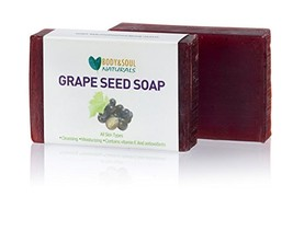 Grape Seed Natural Soap Made with 100% Pure Essential Oils 3.5 oz  Pack of 3