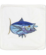 Embroidered Cushion Pillow Cover Marine Art Throw Pillow Bluefin Tuna - $19.95