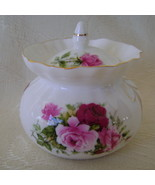 Rose Bouquet Pattern, Bone China, Jam Jar,  - $25.00