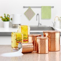 Old Dutch Hammered Copper 4-piece Canister Set - $67.10