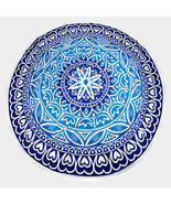 Blue Lotus Multi-way Round Beach Throw with Tas... - $29.00
