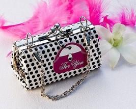 Black Polka Dot Mini Change Purse Bachelorette Bridal Shower Favor 24-48... - $77.85+