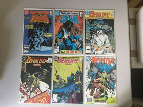 Lot 6 Detective Comics (1937 1st Series) #560 565 579 589 591 599 VF Very Fine
