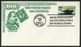 World War II 50th Anniv., Bonds & Stamps [4] **ANY 4=FREE SHIPPING** - $1.00