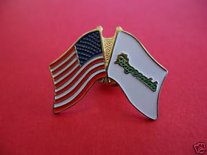 USA FLAG FITZGERALDS CASINO Lapel Pin Hat Pin Collector Souvenir Nevada Vintage