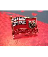 MANITOBA Lapel Pin Hat Pin Collector Vintage FLAG BUFFALO Souvenir Canada - $4.99