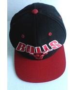 Chicago Bulls Snapback Hat Mitchell & Ness 100% Wool Cap NBA Bulls Flash... - $17.63