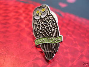 MANITOBA BROWN OWL Collector Souvenir Lapel Pin