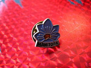 MANITOBA CROCUS FLOWER Collector Souvenir Lapel Pin