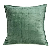 Parkland Collection Agua Transitional Green Solid Quilted Pillow Cover W... - $56.08