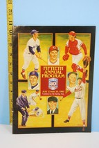 1989 50th Fiftieth Annual Hall of Fame Program EX - $9.99