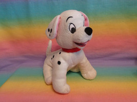Disney 101 Dalmatians Puppy Dog Plush Stuffed Animal Red Collar Sitting ... - $5.89