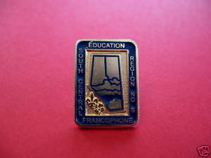 SOUTH CENTRAL EDUCATION FRANCOPHONE Alberta Lapel Pin Hat Pin Collector Vintage
