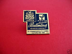 BALLANTINES WHISKY 1994 COMMONWEALTH GAMES Lapel Pin Hat Pin Souvenir Collector