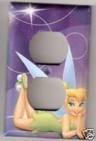 Disney Tinker Bell OS Outlet Light Switchplate Purple