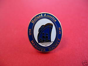 HOLLAND AMERICA MARINER SOCIETY SHIP Lapel Pin Hat Pin Collector Souvenir