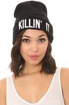 Lady knitted cap Killin It hip hop tide cap cold cap Europe hip-hop cap three-di
