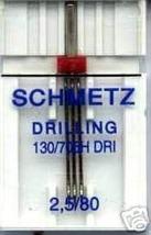 3 BEST NEW Schmetz TRIPLE 2.5 GAP 12/80 Needles - $10.99