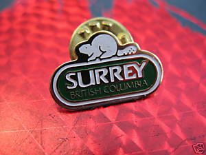 SURREY BRITISH COLUMBIA BEAVER Souvenir Lapel Pin