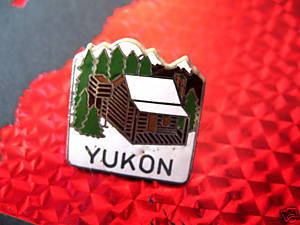 YUKON LOG CABIN Collector Souvenir Lapel Pin