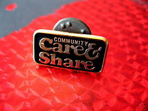 COMMUNITY CARE & SHARE Collector Souvenir Lapel Pin