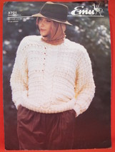 Emu Knit Knitting Patterns LADIES Snowball Pullover Sweater Size 32 - 40 - $3.95