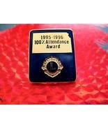 LIONS CLUB 100% ATTENDANCE AWARD Souvenir Lapel Hat Pin - $5.99