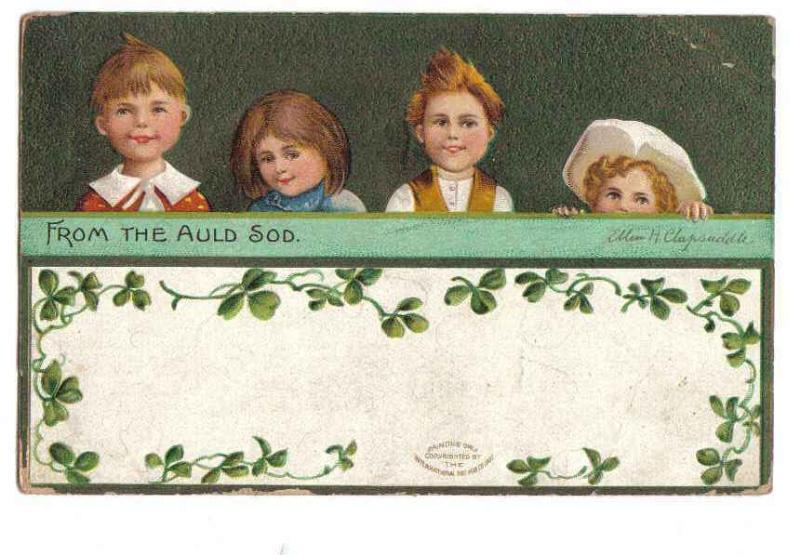 Vintage Irish Ellen Clapsaddle St. Patrick's Day Postcard - 4 Children Bonanza